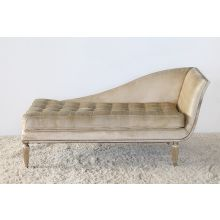 Right-Facing Chaise with Fluted Detail Feet