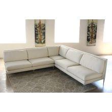Extra Long One Arm Cornering Sofa in Rafaelo Cream - Left Arm Facing