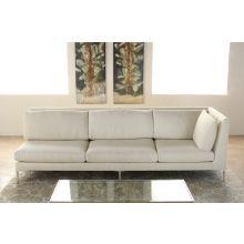 Extra Long One Arm Cornering Sofa in Rafaelo Cream - Right Arm Facing