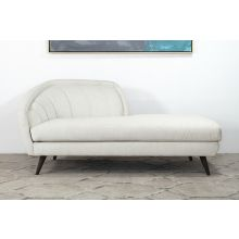 Ivory Curved Channeled Back Left Arm Facing Chaise