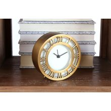 Antiqued Brass Roman Numeral Clock