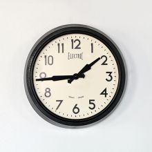 Black Metal Wall Clock