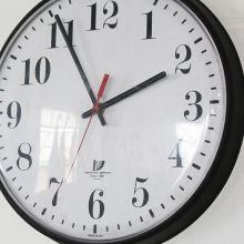 Black Plastic Wall Clock