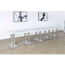10' - 14'  Adjustable Conference Table W/White Top