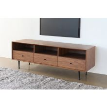 3 Drawer Mid-Century Modern Media Console