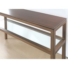Mitchell Gold Parsons Console in Vintage Brass with Sienna Finish