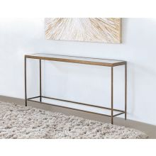 Mitchell Gold Vienna Console in Antique Brass