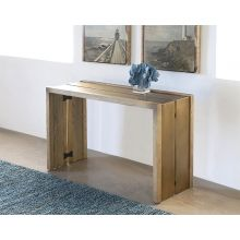 Weaver Console Table in Antique Brass