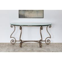 Solano Console Table with Glass Top