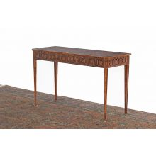 Mahogany Console Table with Circle Patterned Freize