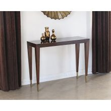 Bullion Short Console Table in Espresso