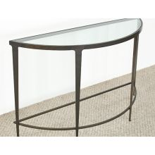 Roundabout Console Table in Antique Pewter