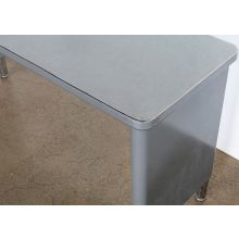 Gray Metal Steelcase Console Table