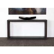 Tobacco Stained Reclaimed Wood Cube Console Table