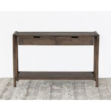 Mango Wood Console Table with Two Drawers