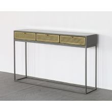 Iron Console W/Perforated Brass Drawer
