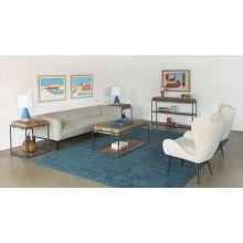 Acacia Wood Sofa Table With Iron Frame