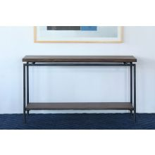 Mango Wood Top Sofa Table With Iron Base