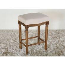 Natural Wood Backless Counter Stool