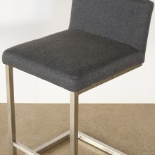Charcoal Grey Cantilever Counter Stool