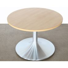 Maple Top Brushed Aluminum Coffee Table