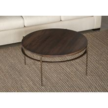 Camden Round Cocktail Table with Maple Top