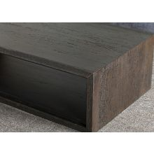 Tobacco Stained Reclaimed Wood Cube Coffee Table