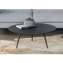 Rubbed Black Iron Tripod Coffee Table