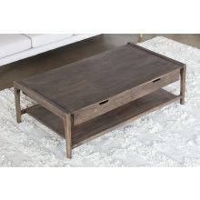 Mango Wood Coffee Table with Four Drawers