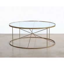 Round Geometrical Brass Coffee Table