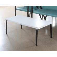 White Coffee Table With Bronze Legs