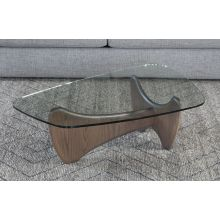 Mid Century Style Coffee Table With Glass Top