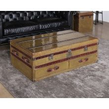 Vintage Brass Trunk Coffee Table