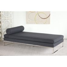 Gray Day Bed with Bolster