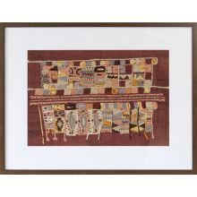Burgundy Embroidery 1 40W X 30H - Cleared Decor