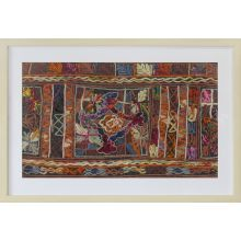 Burgundy Embroidery 2 32W X 22H - Cleared Decor