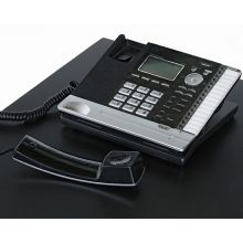 Black and Silver 4 Line Office Phone