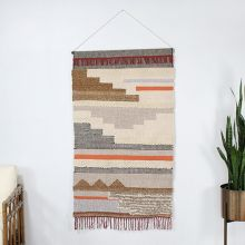Geometric Wall Hanging With Fringe 36W X 60H