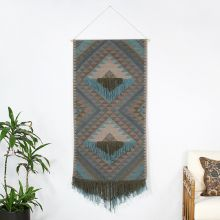 Olive & Sky Blue Tribal Wall Hanging 30W X 60H