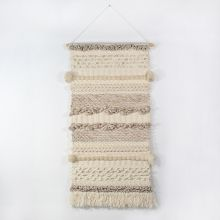 Handwoven Cream & Ivory Wall Hanging 24W X 53H