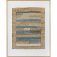 Lineage Blue And Tan Woven Textile 36W X 48H