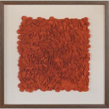 Chili Pepper Textural Abstract 24W X 24H