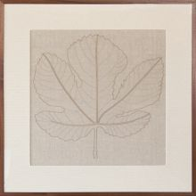 Miss Maple Embroidered Leaf Study 36W X 36H