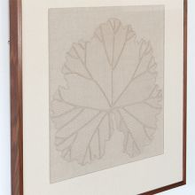 Water Lily Embroidered Botanical 36W X 36H
