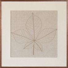 Horse Chestnut Embroidered Botanical 36W X 36H