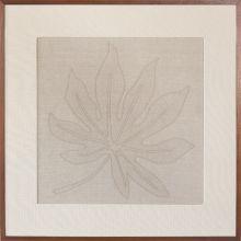 Schefflera Embroidered Botanical 36W X 36H