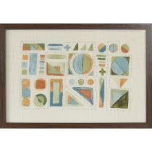 Abstract Multi Textile  26W X 18H - Cleared Decor