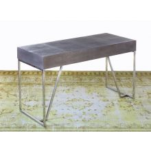 Shagreen Desk with Stainless Steel Base