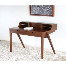 Danish Modern Writing Desk with Storage Compartments