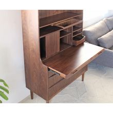 Barrister Desk with Hutch in American Walnut